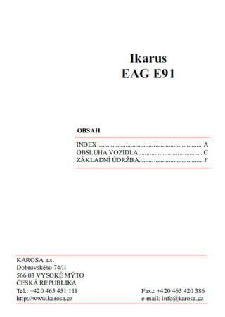 Руководство по эксплуатации автобуса Ikarus EAG E91