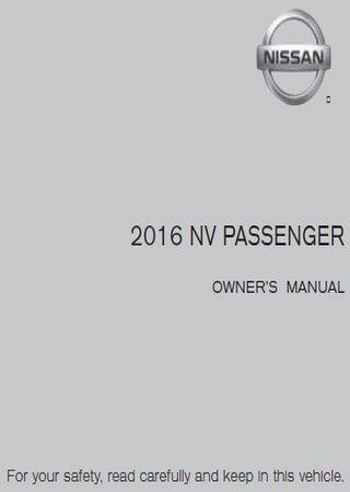 Руководство по эксплуатации микроавтобуса Nissan NV Passenger (2016)