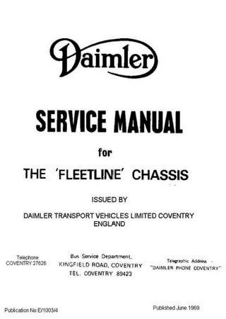 Руководство по обслуживанию автобуса Daimler Fleetline (Leyland Fleetline)